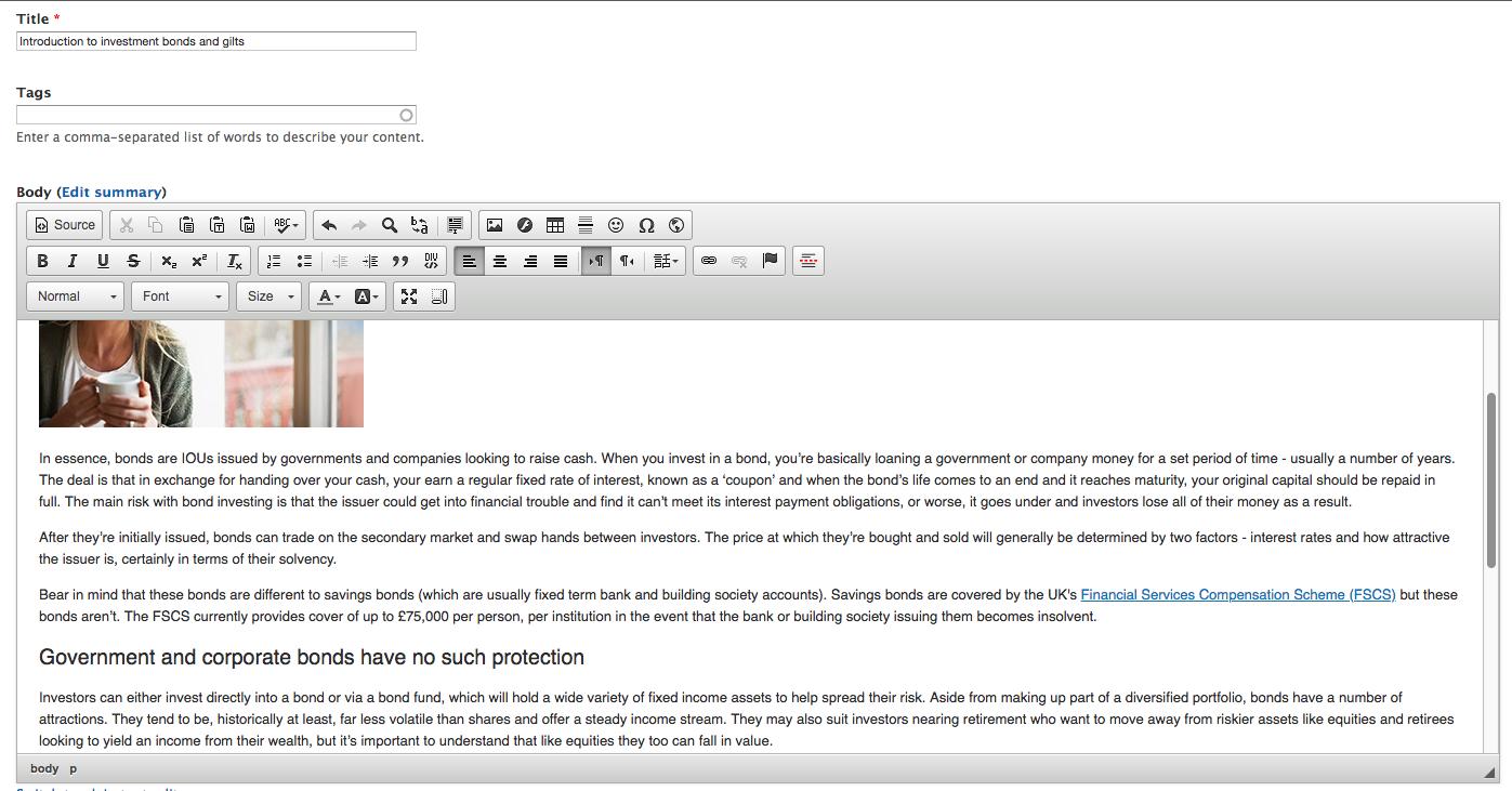 Drupal content editor
